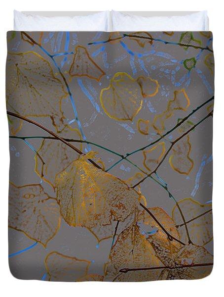 Leaves Duvet Cover by Carol Lynch