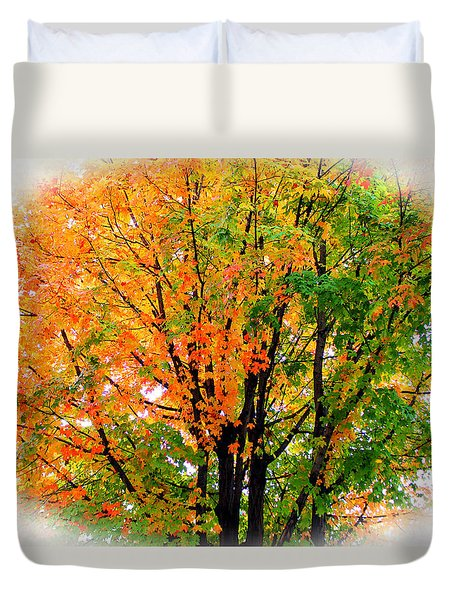 Leaves Changing Colors Duvet Cover by Cynthia Guinn