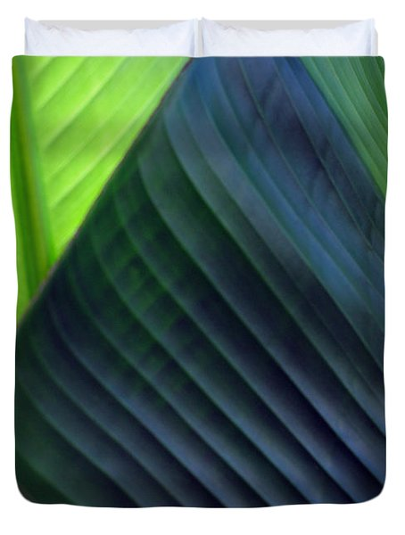 Duvet Cover featuring the photograph Leaves - Green by Haleh Mahbod