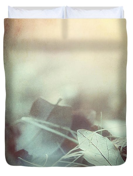 Leaves Of Time  Duvet Cover
