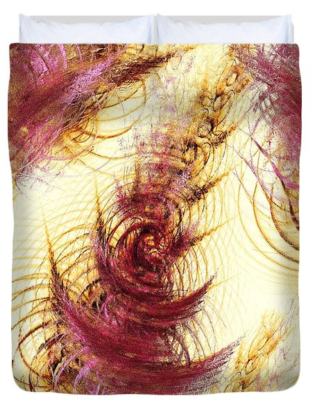 Leaves On A Water Duvet Cover by Anastasiya Malakhova