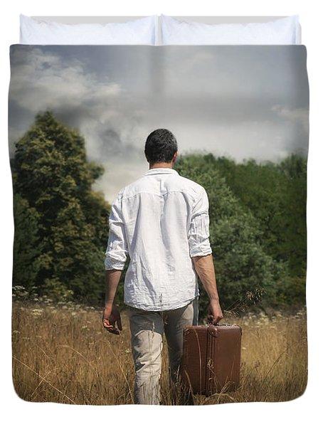Leaving Duvet Cover by Joana Kruse