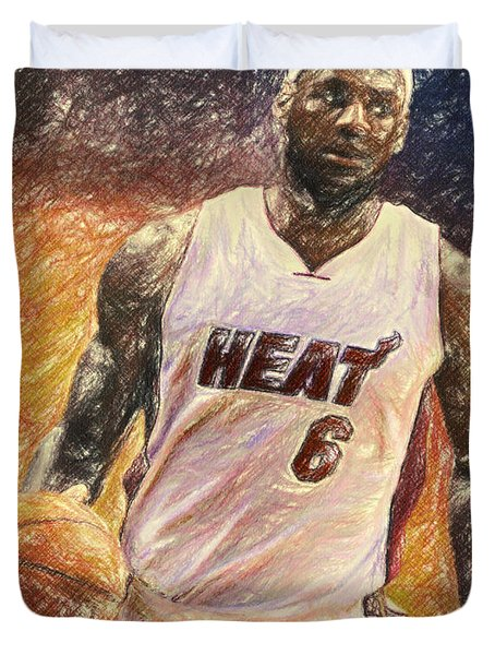 Lebron James Duvet Cover by Taylan Apukovska