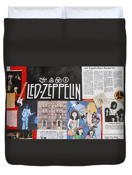 Led Zeppelin Past Times Duvet Cover by Donna Wilson