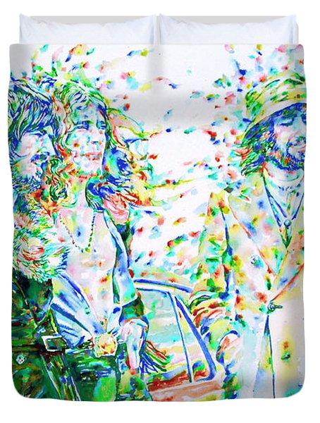 Led Zeppelin - Watercolor Portrait.2 Duvet Cover