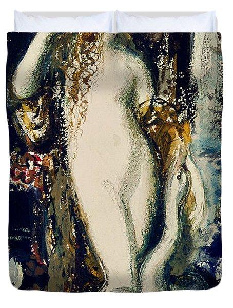 Leda  Duvet Cover by Gustave Moreau