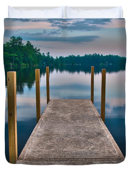 Lees Mills Dock Duvet Cover by Brenda Jacobs