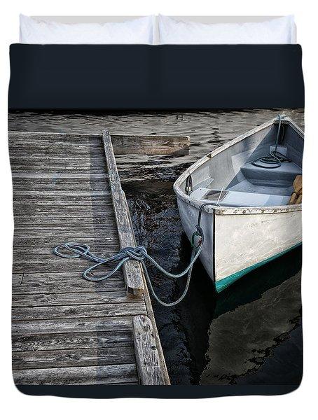 Left At The Dock Duvet Cover by Karol Livote