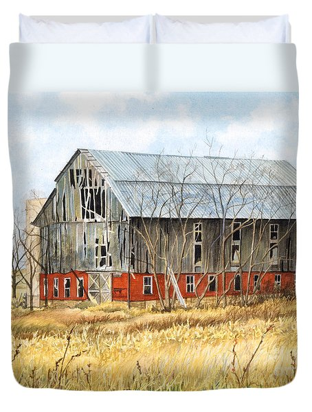 Left Behind Duvet Cover by Barbara Jewell