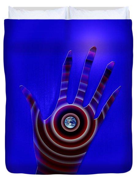Left Hand Implant Duvet Cover