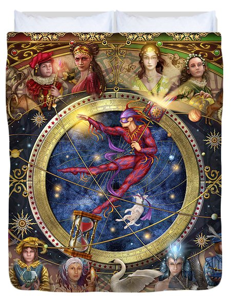 Legacy Of The Divine Tarot Duvet Cover by Ciro Marchetti