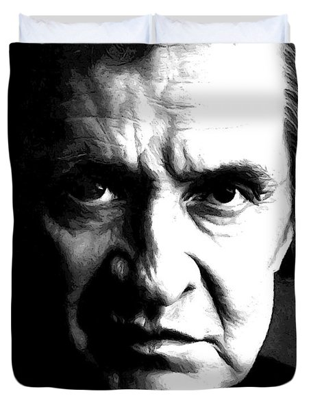 Legendary Johnny Cash Duvet Cover