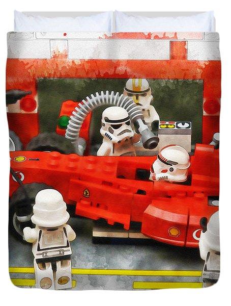 Lego Pit Stop Duvet Cover