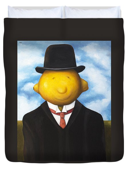 Lemon Head Duvet Cover by Leah Saulnier The Painting Maniac