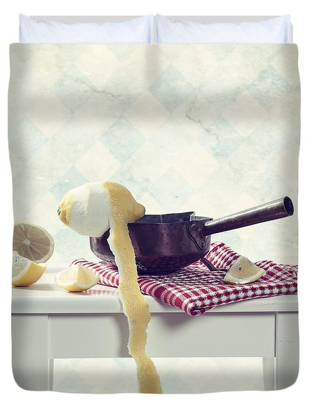 Lemon Duvet Cover by Joana Kruse