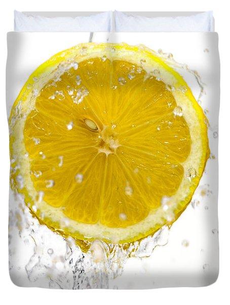 Lemon Splash Duvet Cover