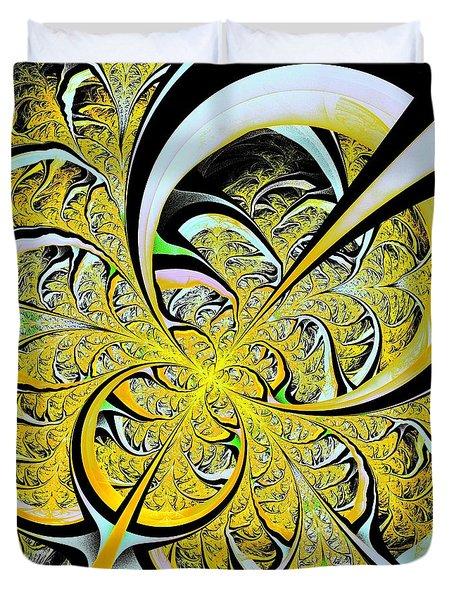 Lemon Twist Duvet Cover by Anastasiya Malakhova