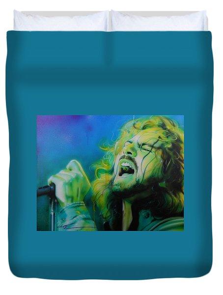 Eddie Vedder - ' Lemon Yellow Sun ' Duvet Cover