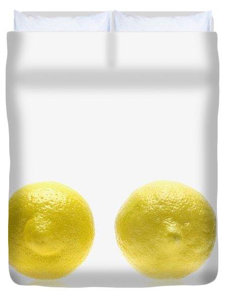 Lemons And Lime Duvet Cover by Kelly Redinger