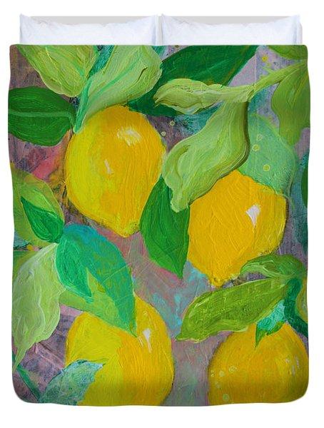 Lemons On Lemon Tree Duvet Cover