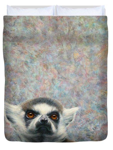 Lemur Duvet Cover by James W Johnson