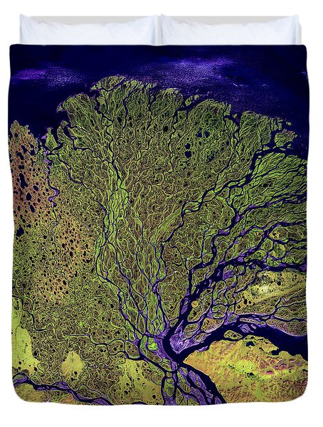 Lena River Delta Duvet Cover by Adam Romanowicz