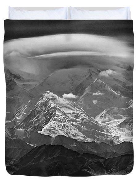101366-lenticular Cloudcap Over Mt. Mckinley Duvet Cover