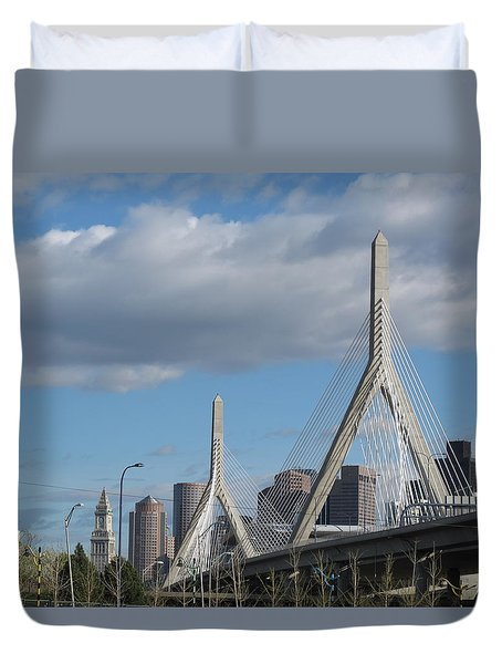 Leonard P Zakim Bridge Duvet Cover