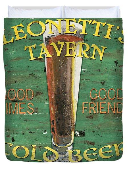 Leonetti's Tavern Duvet Cover by Debbie DeWitt