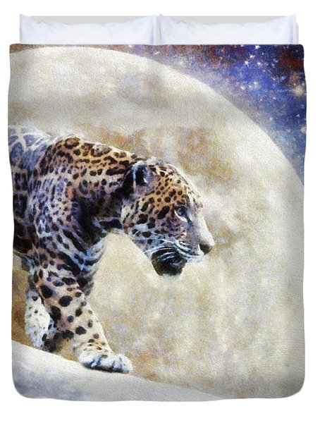 Leopard Moon Duvet Cover by Greg Collins