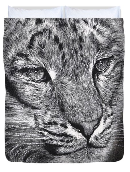 Adams Leopard - Pastel Duvet Cover