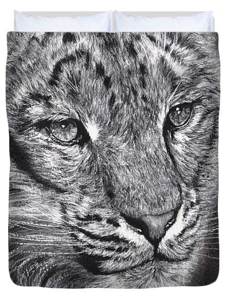 Adams Leopard - Pastel Duvet Cover by Adam Olsen