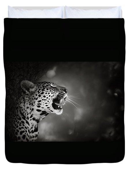 Leopard Portrait Duvet Cover by Johan Swanepoel