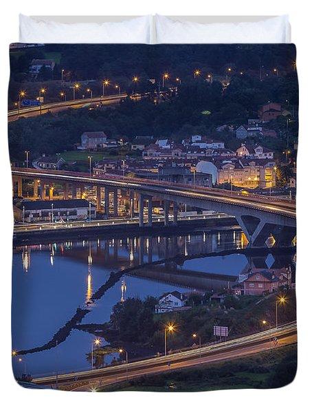 Lerez River Pontevedra Galicia Spain Duvet Cover