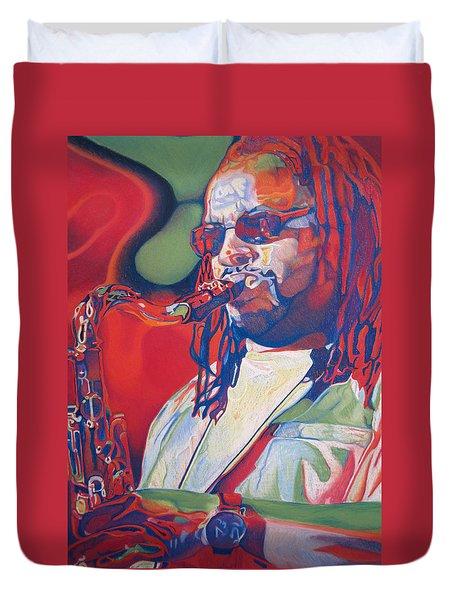 Leroi Moore Colorful Full Band Series Duvet Cover
