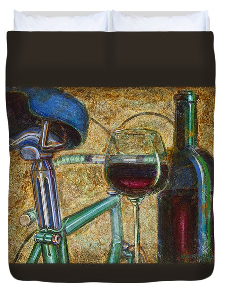 L'eroica Bianchi Chianti Duvet Cover by Mark Jones