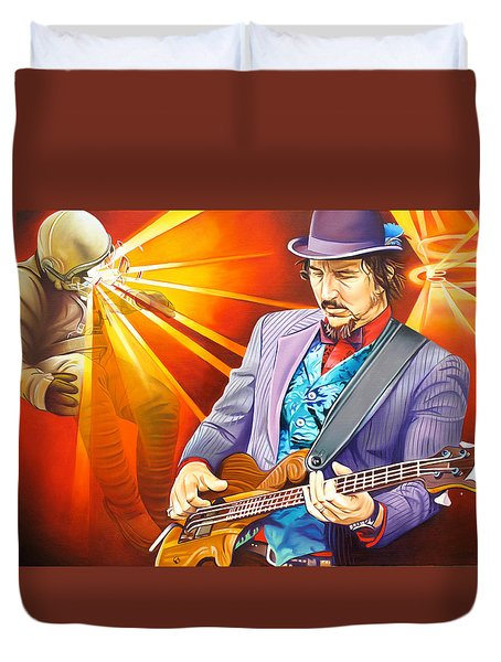 Les Claypool's-sonic Boom Duvet Cover by Joshua Morton