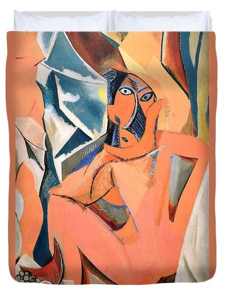 Les Demoiselles D'avignon Picasso Detail Duvet Cover