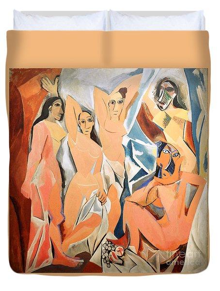 Les Demoiselles D'avignon Picasso Duvet Cover