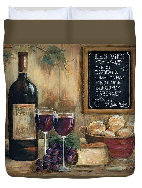 Les Vins Duvet Cover by Marilyn Dunlap