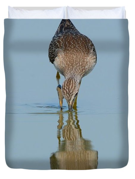 Lesser Yellowlegs Duvet Cover