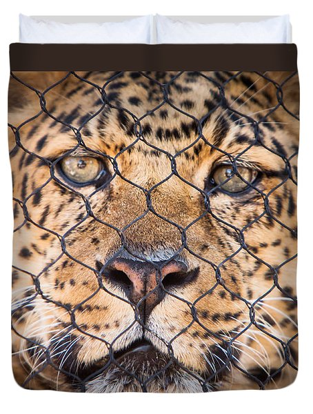 Let Me Out Duvet Cover