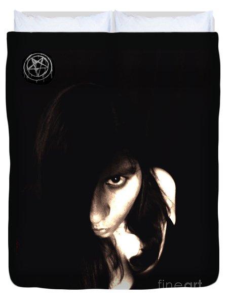 Let The Darkness Take Me Duvet Cover by Vicki Spindler