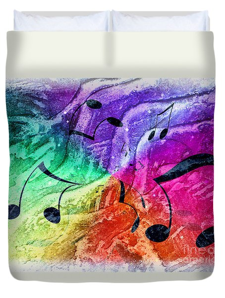 Duvet Cover featuring the digital art Let The Music Move You by Janie Johnson