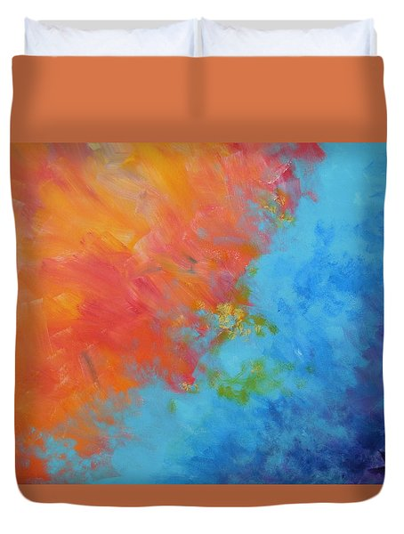Duvet Cover featuring the painting Let There Be Light by Dan Whittemore