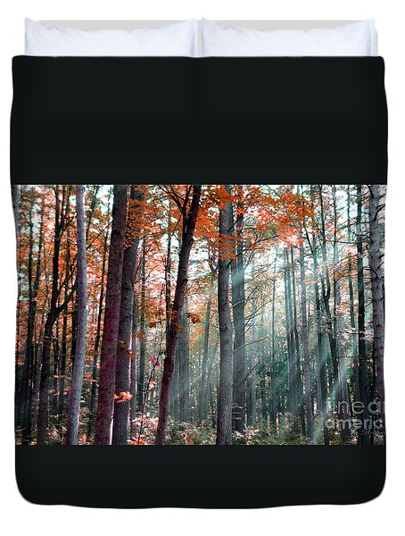Let There Be Light Duvet Cover by Terri Gostola