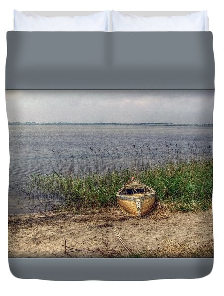 Duvet Cover featuring the photograph L'etang by Hanny Heim