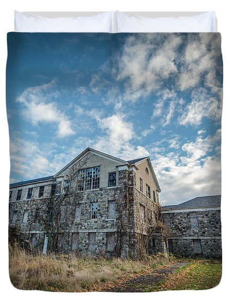 Letchworth Village Morgue  Duvet Cover