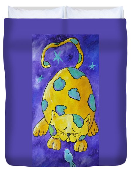 Let's Be Friends Duvet Cover by Kenny Francis