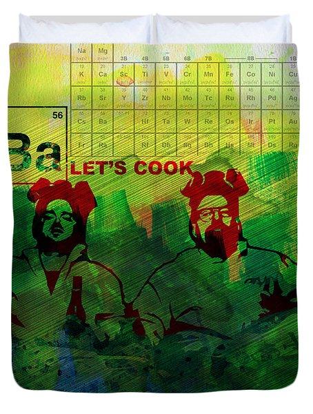 Let's Cook Watercolor Duvet Cover